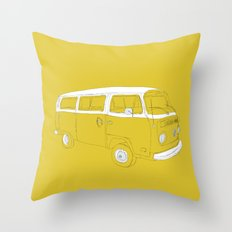 VW T2 Microbus Throw Pillow