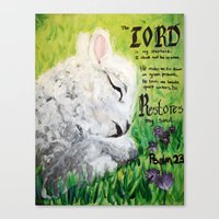 The Lord Restores Psalm 23 Canvas Print