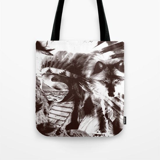 native wolf  Tote Bag