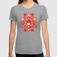 LOTUS HOLIC Womens Fitted Tee Tri-Grey SMALL