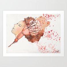 Just peachy Art Print