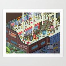 Zombie Mall... Art Print