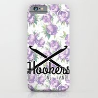 hookers do it one handed funny crochet iPhone 6 Slim Case