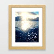 Always Darkest Before Dawn Framed Art Print