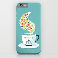 iPhone & iPod Case featuring Enjoy the Tea by Freeminds