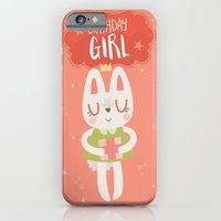 Birthday Girl Bunny Card iPhone 6 Slim Case