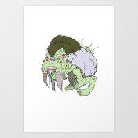 Mr. Maggot Will Melt You… Art Print