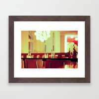 bar chair Framed Art Print