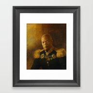 Framed Art Print featuring Samuel L. Jackson - Repl… by Replaceface