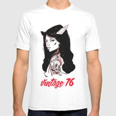 vintage 76 (wicked) Mens Fitted Tee White SMALL