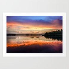 Sunset Symmetry Art Print