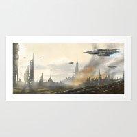 Under Attack  Art Print
