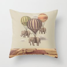 Flight Of The Elephants  Throw Pillow