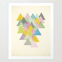 French Alps Art Print
