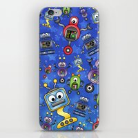 Little Robots  iPhone & iPod Skin