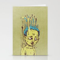 The Golden Boy With Blue… Stationery Cards