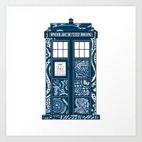Tardis Blue Art Print