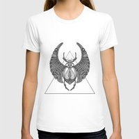 Scarab Womens Fitted Tee White SMALL