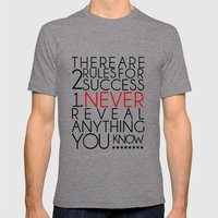 SUCCESS Mens Fitted Tee Tri-Grey SMALL