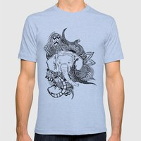 Inking Elephant Mens Fitted Tee Athletic Blue SMALL