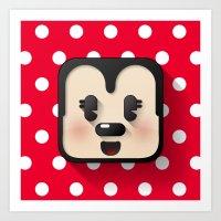 Minnie Mouse Cutie Art Print