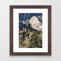 Running Like Lightning Framed Art Print