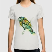 Small Hunter Womens Fitted Tee Silver SMALL