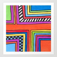 funky right angles Art Print