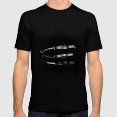 WOOD SMALL Black Mens Fitted Tee