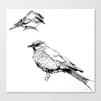 Canvas Print featuring Sketchy Fellas by Stroke a Bird