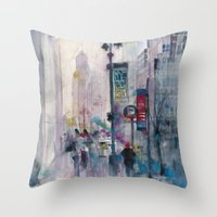 Across the street Grand Central Station, New York City Throw Pillow