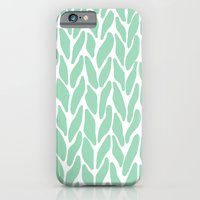 Hand Knitted Mint iPhone 6 Slim Case