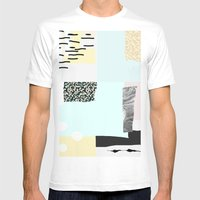 On the wall#4 Mens Fitted Tee White SMALL