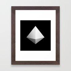 Mountain Icon Framed Art Print