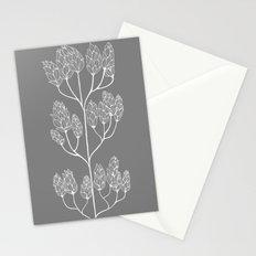 Leaf-like Sumac in Grey Stationery Cards