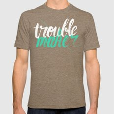 Troublemaker Mens Fitted Tee Tri-Coffee SMALL