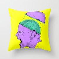 Brain Stain Throw Pillow