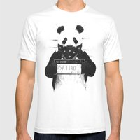 Bad Panda Mens Fitted Tee White SMALL