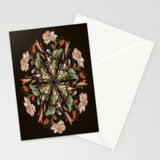 Flemish Floral Mandala 3 Stationery Cards