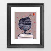 BomberMan Framed Art Print