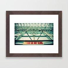 Please do not climb Framed Art Print