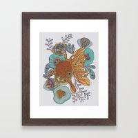 Little Fish Framed Art Print