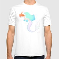 Mermaid Mens Fitted Tee White SMALL