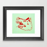Rabid Dogs Bite Framed Art Print