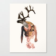 Tough Moose Canvas Print