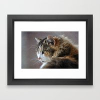 Cassie's Portrait Framed Art Print