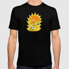 Electric Thunder! Mens Fitted Tee Black SMALL