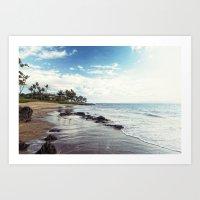 paradise island Art Print