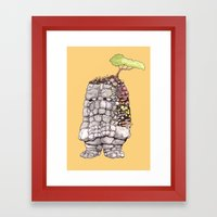 it's growing on me Framed Art Print