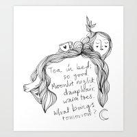 Bedtime Haiku Art Print